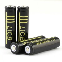 LiCB 2Packs 6800mAh 18650 Battery Rechargeable Li-ion With Lithium Battery Holder case 3.7v Batteries Black(2 PCS)